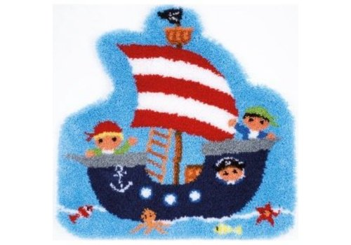 Vervaco Knoopvormtapijt kit Piratenboot