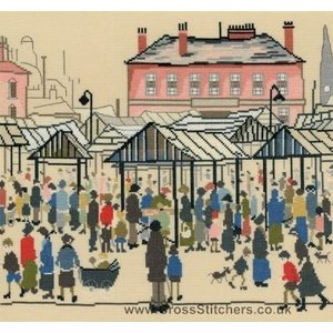 Bothy Threads Lowry - Market Scene - Bothy Threads