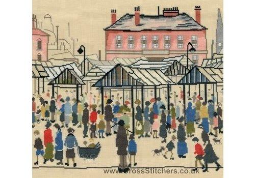 Bothy Threads Lowry - Market Scene - Bothy Threads