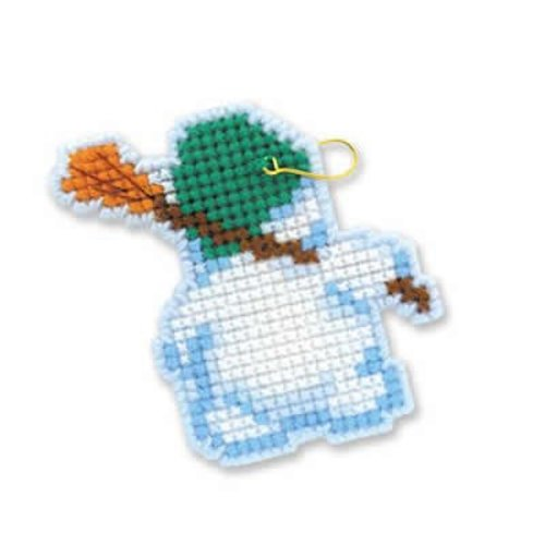 RIOLIS Cross stitch kit Christmas Tree Decoration Snowmen - RIOLIS