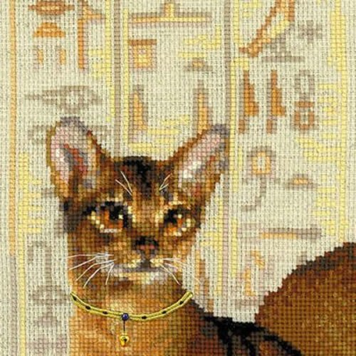 RIOLIS Cross stitch kit Abyssinian cats - RIOLIS