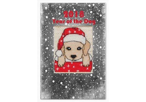 Luca-S Borduurpakket Postcard Year of the Dog 2018 - Luca-S
