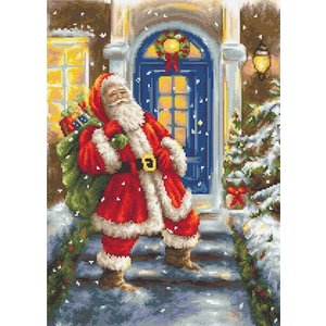 Luca-S Petit Point Borduurpakket Santa Claus - Luca-S