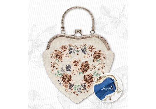 Luca-S Borduurpakket Handbag Roses Brown - Luca-S