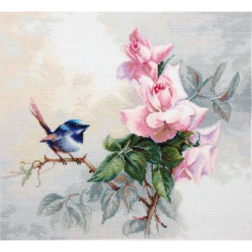 Luca-S Cross stitch kit Birdie - Luca-S