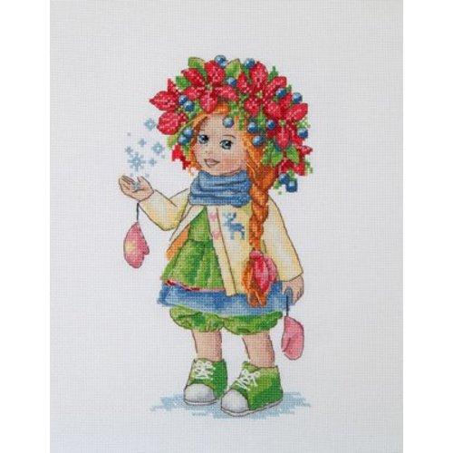 Merejka Borduurpakket Winter Girl