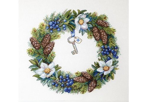 Merejka Borduurpakket Winter Wreath