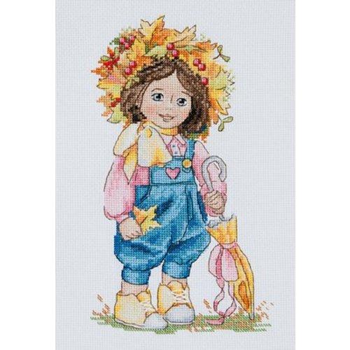 Merejka Borduurpakket Autumn Girl