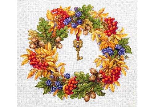 Merejka Borduurpakket Autumn Wreath