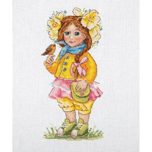Merejka Borduurpakket Spring Girl