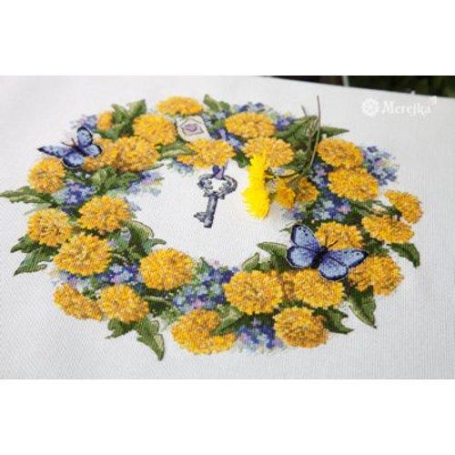 Merejka Borduurpakket Dandellion Wreath - Merejka