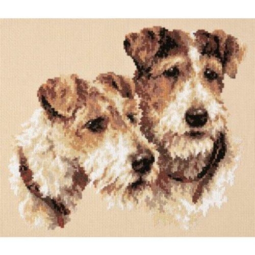 Chudo Igla Borduurpakket Fox Terriers - Chudo Igla