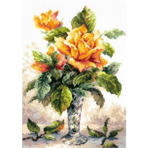 Chudo Igla Borduurpakket Yellow roses - Chudo Igla