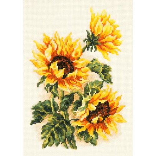 Chudo Igla Borduurpakket Three sunflowers - Chudo Igla