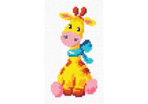 Chudo Igla Borduurpakket Giraffe