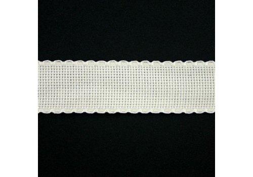Jobelan Aidaband 3 cm - gebroken wit