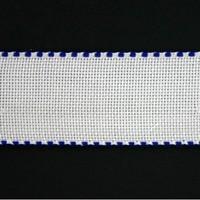Aidaband 5 cm - wit/marine
