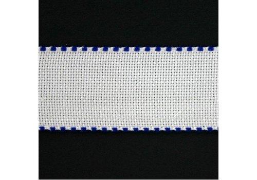 Jobelan Aidaband 5 cm - wit/marine