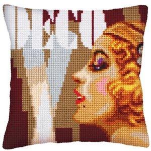 Collection d'Art Kussen borduurpakket Art Deco II - Collection d'Art