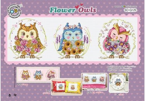 Soda Stitch Flower Owls