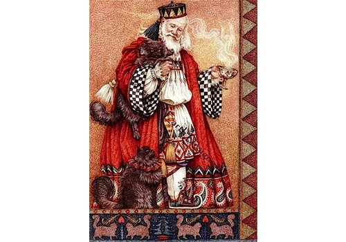 Heaven and Earth Designs  Yvonne Gilbert: Father Christmas with cats