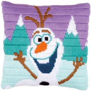 Vervaco Spansteekkussen kit Disney Olaf
