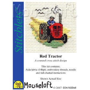Mouseloft Borduurpakket Red Tractor - Mouseloft