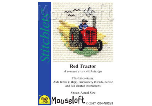 Mouseloft Borduurpakket Red Tractor - Mouseloft