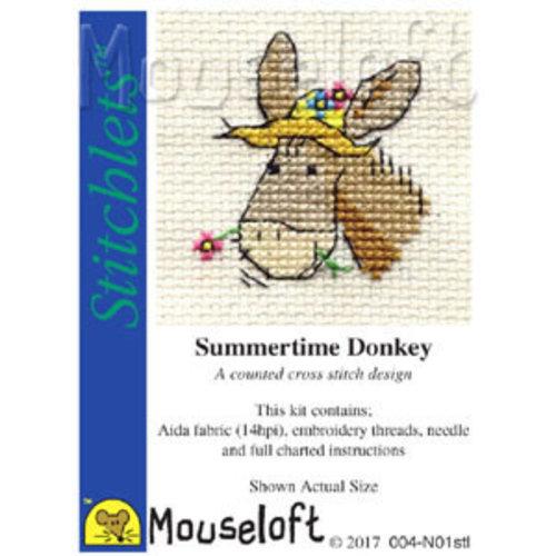 Mouseloft Borduurpakket Summertime Donkey - Mouseloft