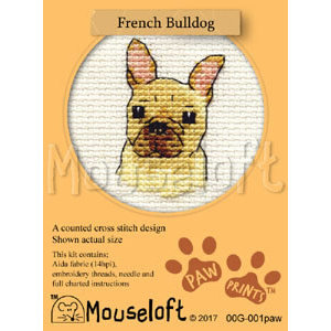 Mouseloft Borduurpakket French Bulldog - Mouseloft
