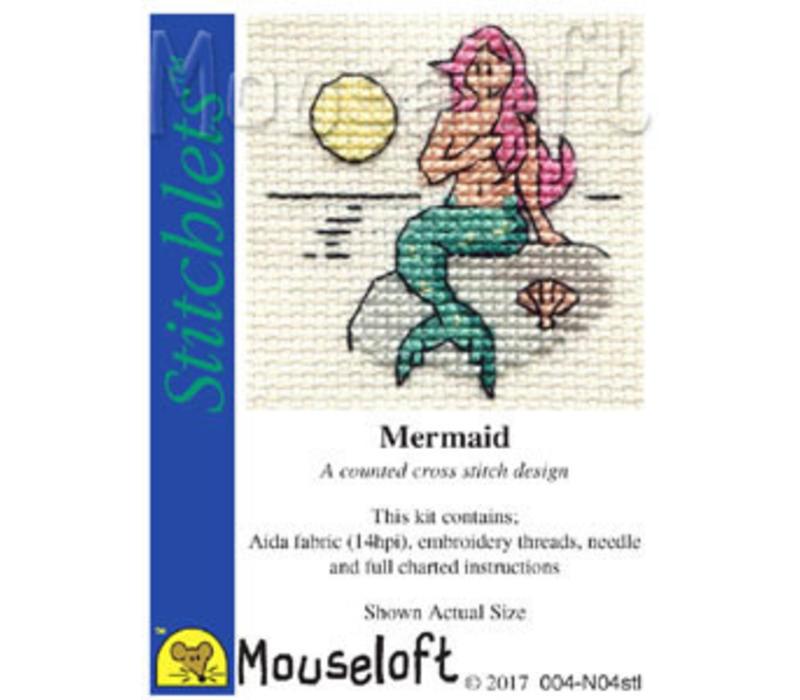 Borduurpakket Mermaid - Mouseloft