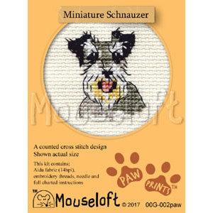 Mouseloft Borduurpakket Miniature Schnauzer - Mouseloft