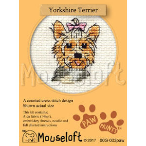 Mouseloft Borduurpakket Yorkshire Terrier - Mouseloft