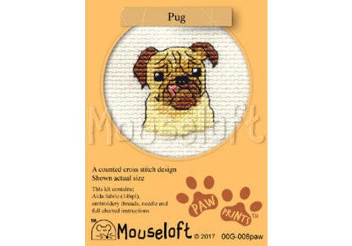 Mouseloft Borduurpakket Pug - Mouseloft