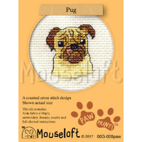 Mouseloft Borduurpakket Pug - Mouseloft