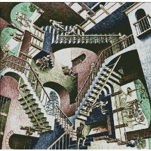Heaven and Earth Designs  M.C. Escher: Relativity Color