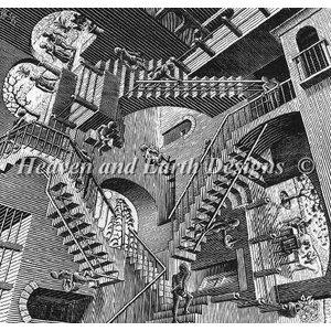 Heaven and Earth Designs  M.C. Escher: Relativity