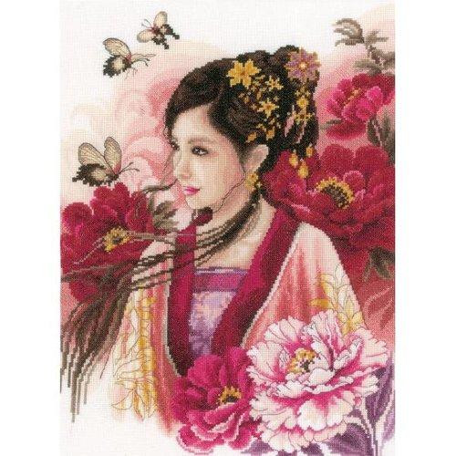 Lanarte Telpakket kit Asian lady in pink