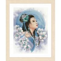 Telpakket kit Asian lady in blue