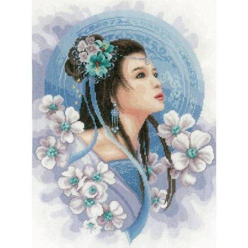 Lanarte Telpakket kit Asian lady in blue