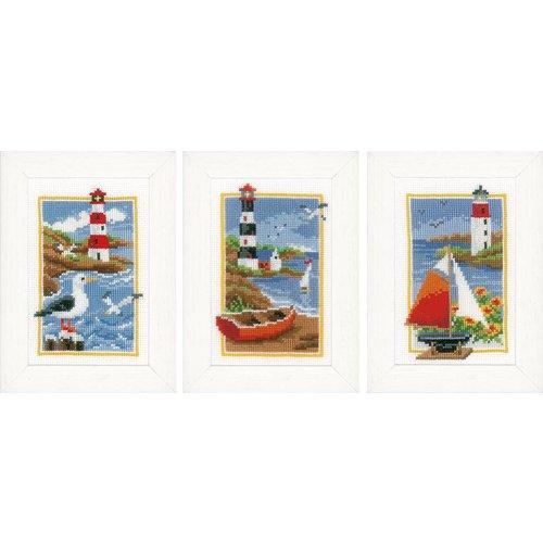 Vervaco Miniatuur kit Vuurtorens set van 3