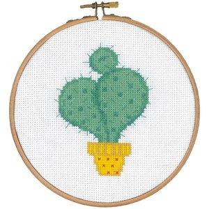 Vervaco Telpakket kit met borduurring Cactus