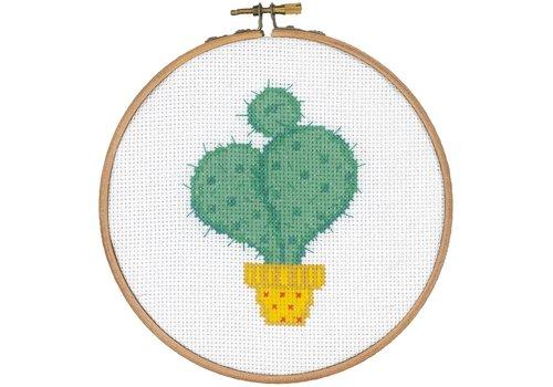 Vervaco Pakket met hoop: Cactus met gele pot