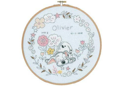 Vervaco Geboortetegel: Little Dalmatier Oliver