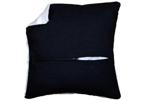Vervaco Kussenrug met rits 45 x 45 cm - zwart