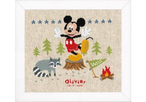 Vervaco Mickey Mouse - Geboortetegel Olivier