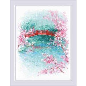 RIOLIS Borduurpakket Sakura - Bridge - RIOLIS