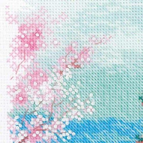 RIOLIS Borduurpakket Sakura - Pagoda - RIOLIS
