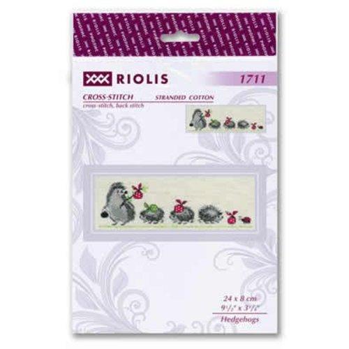RIOLIS Borduurpakket Hedgehogs - RIOLIS