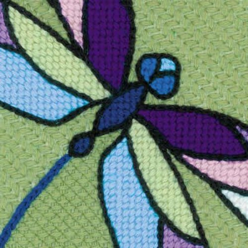 RIOLIS Borduurpakket Cushion/Panel Stained Glass Window - Dragonflies - RIOLIS
